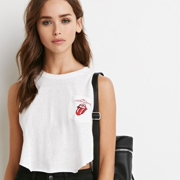 Forever 21 Tops - Rolling Stones pocket tee